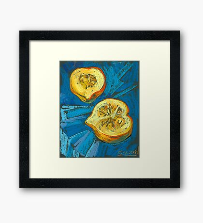Two pieces of a pumpkin Framed Print