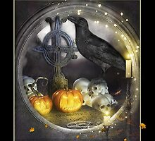 Magical Raven Halloween Card by xgdesignsnyc