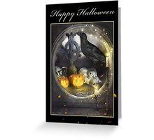 Magical Raven Halloween Card Greeting Card