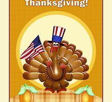Happy Patriotic Thanksgiving Turkey by xgdesignsnyc