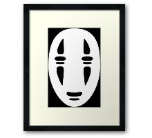 No Face Cutout Framed Print