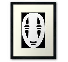 No Face Cutout Framed Print
