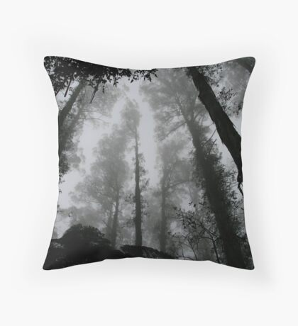 Creepy Forest Throw Pillow