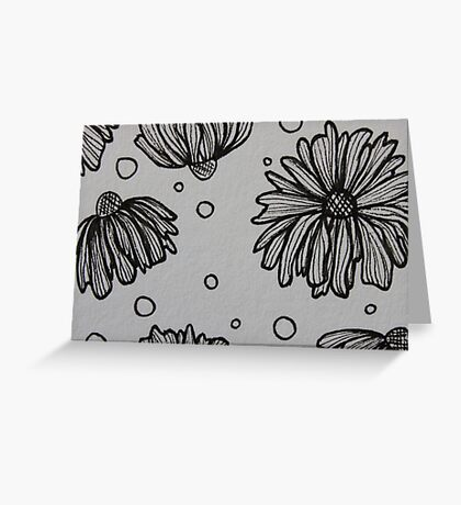 Flowers and Spots Greeting Card