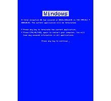 BSOD (Blue Screen of Death) Windows shirt Photographic Print