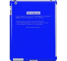 BSOD (Blue Screen of Death) Windows shirt iPad Case/Skin