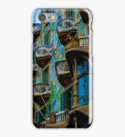 Casa Batllo by Gaudi in Barcelona iPhone Case/Skin