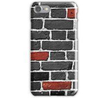 Red and Monochrome Bricks iPhone Case/Skin