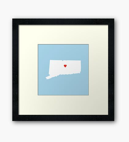 Connecticut Love Framed Print