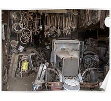 Hupmobile in Garage - Toppenish WA Poster