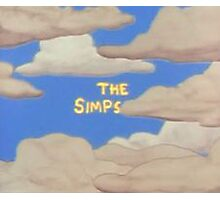 The Simpsons start screen Photographic Print