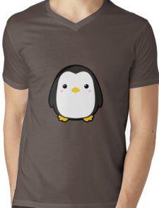 Kawaii Penguin Mens V-Neck T-Shirt