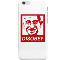 Gandhi DISOBEY (red) iPhone Case/Skin