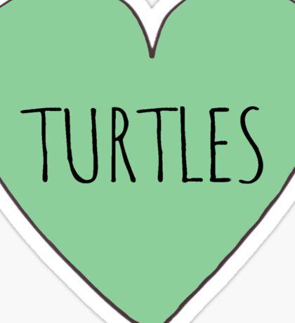I Love Turtles-  Stickers Sticker