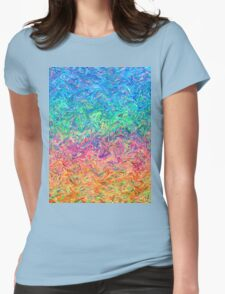 Fluid Colors Womens Fitted T-Shirt