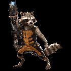 Hexels- Rocket Raccoon by CallinghamM