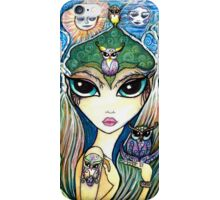 Owlete The Owl Queen, by Sheridon Rayment iPhone Case/Skin