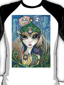 Owlete The Owl Queen, by Sheridon Rayment T-Shirt