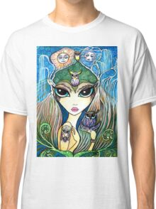 Owlete The Owl Queen, by Sheridon Rayment Classic T-Shirt