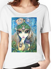 Owlete The Owl Queen, by Sheridon Rayment Women's Relaxed Fit T-Shirt