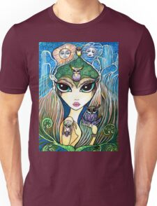 Owlete The Owl Queen, by Sheridon Rayment Unisex T-Shirt