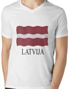 Latvia flag Mens V-Neck T-Shirt
