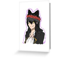 RWBY - Blake Belladonna with Flower Crown Greeting Card