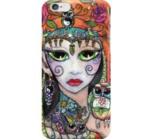 Gypsy Owl Oracle by Sheridon Rayment iPhone Case/Skin