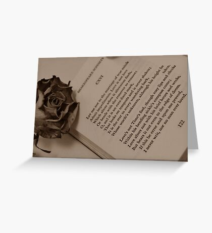 Love's Not Time's Fool... Greeting Card