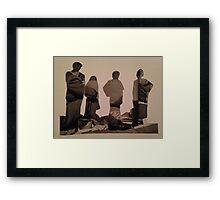 Accidental Dali Collage. Framed Print