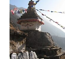 Chorten and Mani Stones En Route to Everest Base Camp by Jan Vinclair