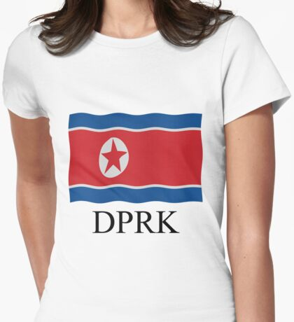 DPRK flag Womens Fitted T-Shirt