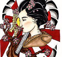 Japanese Geisha by Adam  Parsons