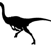 Gallimimus Silhouette by kwg2200