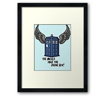 The Angels Have the Phone Box - Doctor Who Framed Print