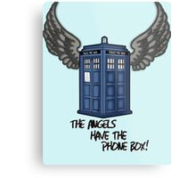 The Angels Have the Phone Box - Doctor Who Metal Print