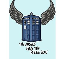 The Angels Have the Phone Box - Doctor Who Photographic Print