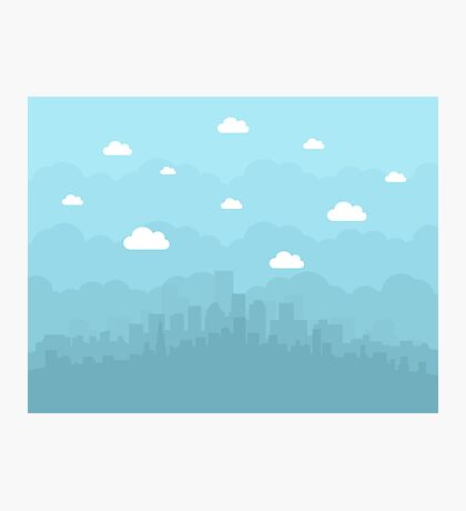 City is flat Photographic Print