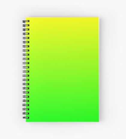 Shades of yellow and green  Spiral Notebook