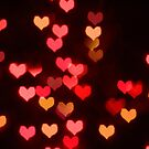 Red bokeh valentine hearts by stuwdamdorp
