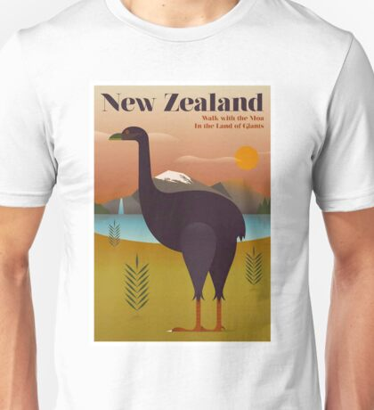 NEW ZEALAND; Vintage Travel and Tourism Print Unisex T-Shirt