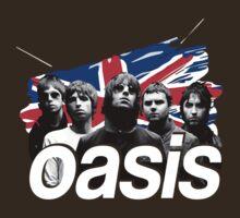 Oasis United Kingdom Flag T-Shirt / Phone / Pillow by Fenx