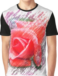 Digitally enhanced orange rose flower Graphic T-Shirt