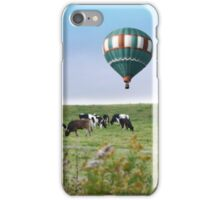 Cows and Hot Air Balloon iPhone Case/Skin