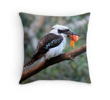 The Kookaburra Thief Throw Pillow