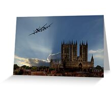 Lancasters over Lincoln Greeting Card