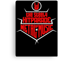 The steely Hitparade of Metal Music 2 (red white) Canvas Print