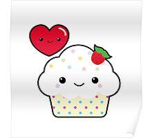 Kawaii cupcake Poster