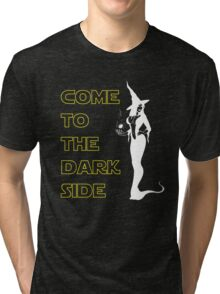 Come to the dark side Christmas witch Tri-blend T-Shirt