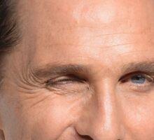 Matthew McConaughey's Head Sticker
